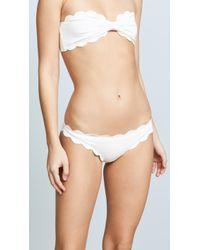 Marysia Swim Antibes Scallop Bikini Bottoms - Black