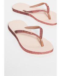 Havaianas Slim Sparkle Flip Flops - Pink
