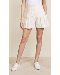 Rebecca Taylor - Textured Stripe Shorts - Lyst