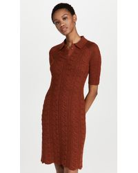 Victor Glemaud Sweater Dress - Brown