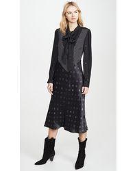 COACH Mixed Dot Bow Dress - Black