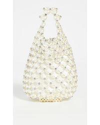 Simone Rocha Small Beaded Shopper Bag - Natural