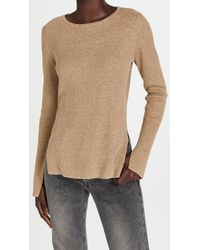 Bassike Fine Cotton Linen Ribbed Knit Sweater - Multicolor