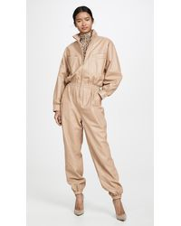 Zimmermann Espionage Leather Boiler Suit - Natural