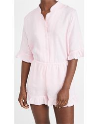 Sleeper Judas Tree Linen Lounge Suit - Pink