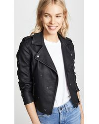 Cupcakes And Cashmere - Burwell Vegan Leather Moto Jacket - Lyst