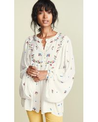 Free People - Kiss From A Rose Blouse - Lyst