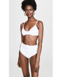 Red Carter Mia Bikini Top - White