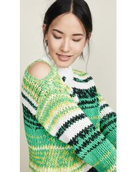 Nude Roundneck Sweater - Green