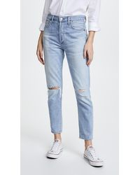 Citizens of Humanity Liya High Rise Classic Fit Jeans - Blue