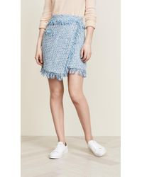 MILLY - Tweed Mini Skirt - Lyst