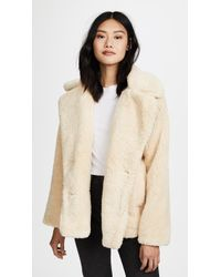 Free People Notched Teddy Pea Coat - White