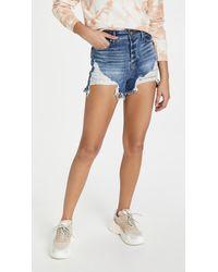 GOOD AMERICAN Bombshell Shorts - Blue