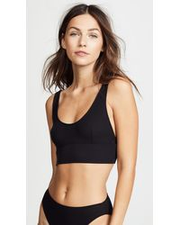 Only Hearts Feather Weight Rib Athletic Bralette - Black