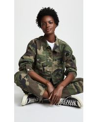 RE/DONE - Camo Jacket - Lyst