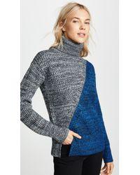 10 Crosby Derek Lam - Bi-color Turtleneck Sweater - Lyst