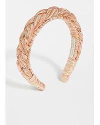 Loeffler Randall Lilac Pleated Braid Headband - Metallic