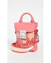 MCM Soft Berlin Transparent Mini Crossbody Bag - Multicolor