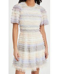 Needle & Thread Luella Ruffle Mini Dress - White