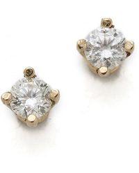 Gabriela Artigas White Diamond Stud Earrings - Yellow