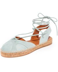 Carmelinas - Lina Lace Up Espadrilles - Lyst