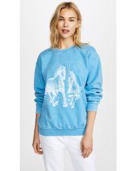 Baja East Horse Sweatshirt - Blue