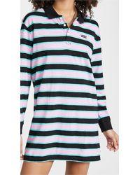 Vans - Stripe Polo Dress - Lyst