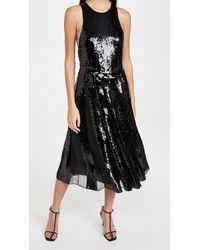 Tibi - Eclair Sequin Beading Halter Dress - Lyst