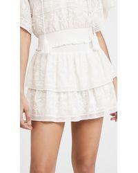 Alice + Olivia Jojo Ruffle Miniskirt - White