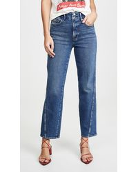 GOOD AMERICAN Good Straight Twisted Seam Jeans - Blue