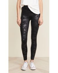 Spanx - Faux Leather Camo Leggings - Lyst