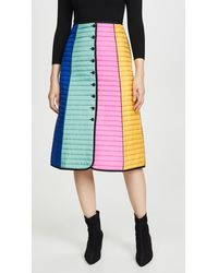 Tory Burch - Colorblock Quilted Skirt - Lyst