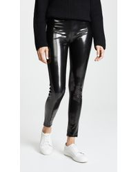 Blank NYC Vinyl Pull On Leggings - Black