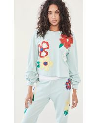 Alice + Olivia Gaia Embroidered Sweatshirt - Blue