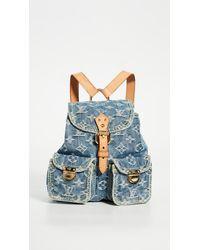 What Goes Around Comes Around Louis Vuitton Blue Denim Medium Backpack