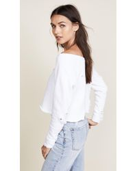 Hudson Jeans - X Baja East Drop Shoulder Cropped Sweatshirt - Lyst