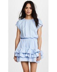 Peixoto Nissi Pom Pom Dress - Blue
