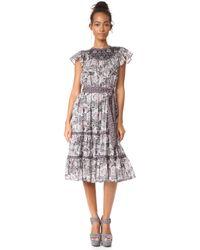 La Vie Rebecca Taylor Sleeveless Indochine Embroidery Dress - Black