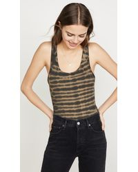Agolde Jagged Stripe Ribbed Knit Bodysuit - Multicolour