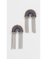 Venessa Arizaga - Rainbow Sparkle Earrings - Lyst