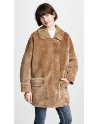 Free People Lindsay Sherpa Coat - Brown
