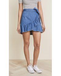 PAIGE Nivelle Skirt - Blue