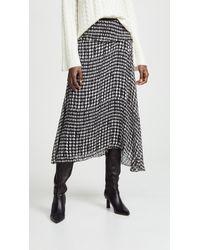 Theory - Side Drape Midi Skirt - Lyst