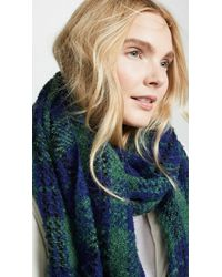 Free People - Emerson Plaid Scarf - Lyst