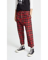 R13 - Tailored Drop Trousers - Lyst