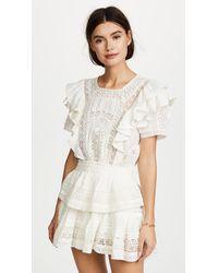 LoveShackFancy Stella Dress - White
