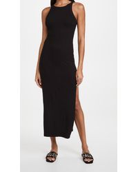 LNA Candi Rib Dress - Black