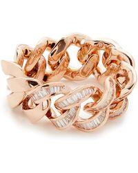SHAY - 18k Gold Baguette Diamond Jumbo Link Ring - Lyst