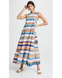 MDS Stripes - Peasant Dress - Lyst