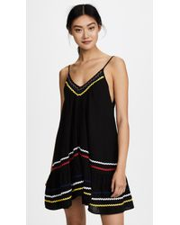 9seed St Tropez Ruffle Mini Dress - Black